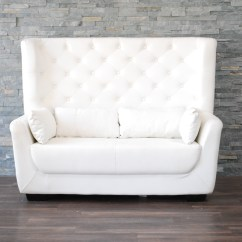 High Back Sofa And Loveseat Lime Green Dfs White Leather Tufted Love Seat Platinum Event Rentals