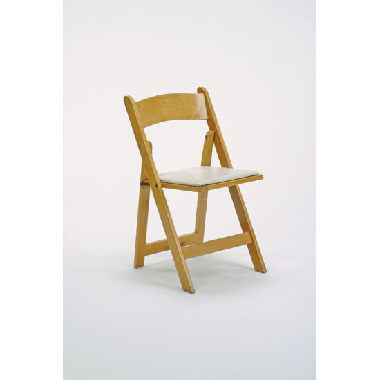 renting folding chairs chair pillow for back pain natural wood platinum event rentals