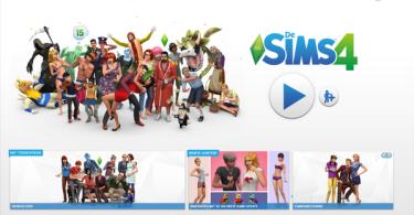 Sims 4 start screen update