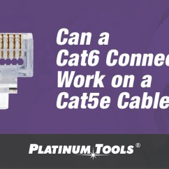 Cat6 Plug Wiring Diagram Ford Au Alternator Can A Connector Work On Cat5e Cable Platinum Tools