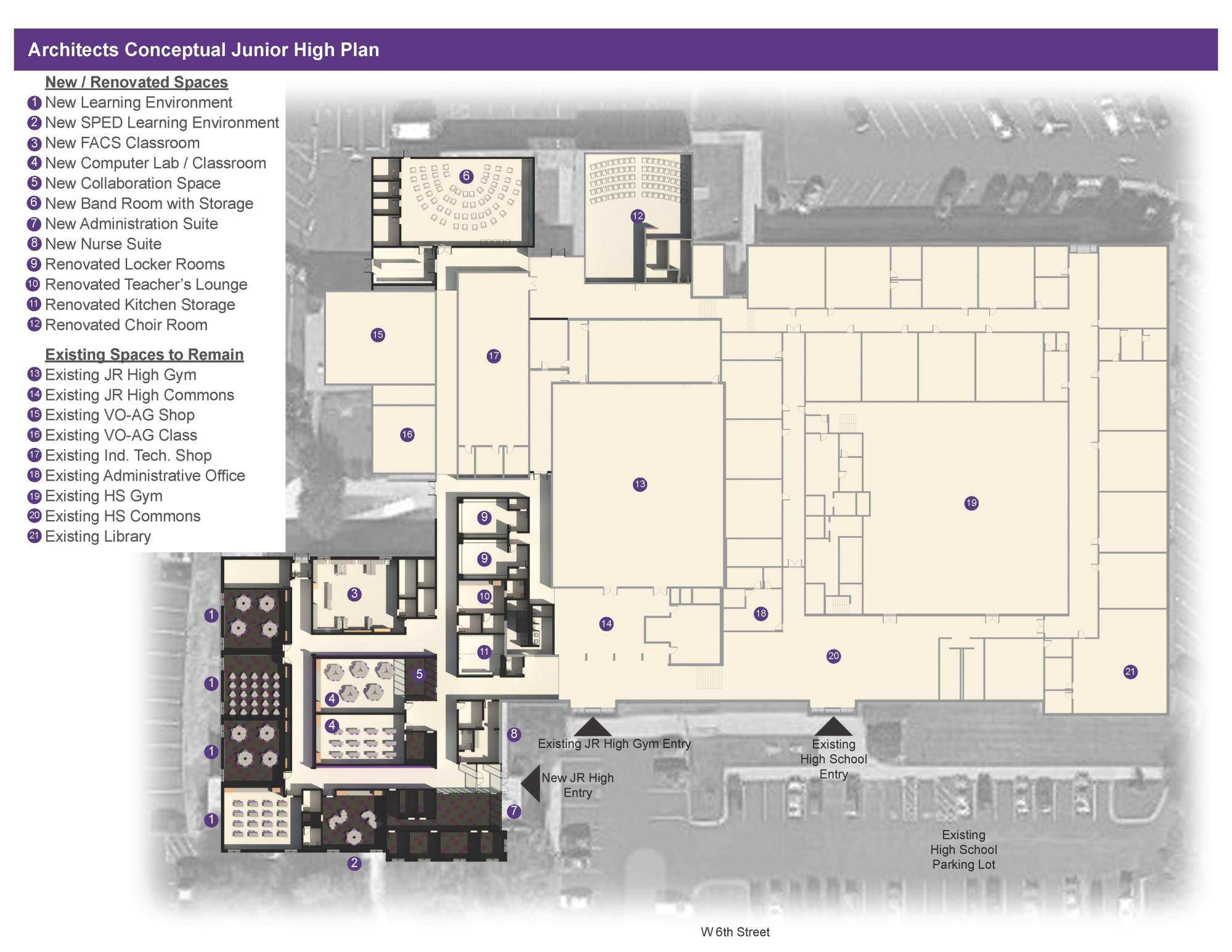hight resolution of above is an conceptual design of the new north platte junior high school created by incite design studios new additions include a band room computer lab
