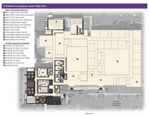 small resolution of above is an conceptual design of the new north platte junior high school created by incite design studios new additions include a band room computer lab