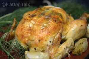 Herb Butter Roasted Chicken