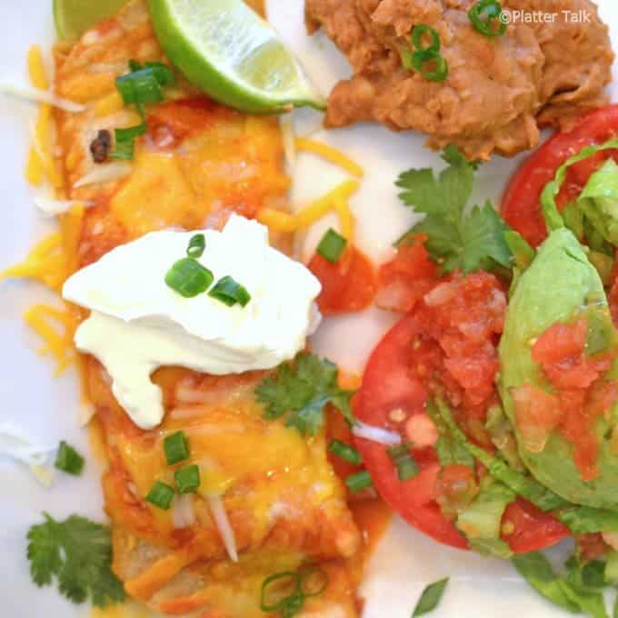 Steak Enchiladas are among leftover steak recipes.