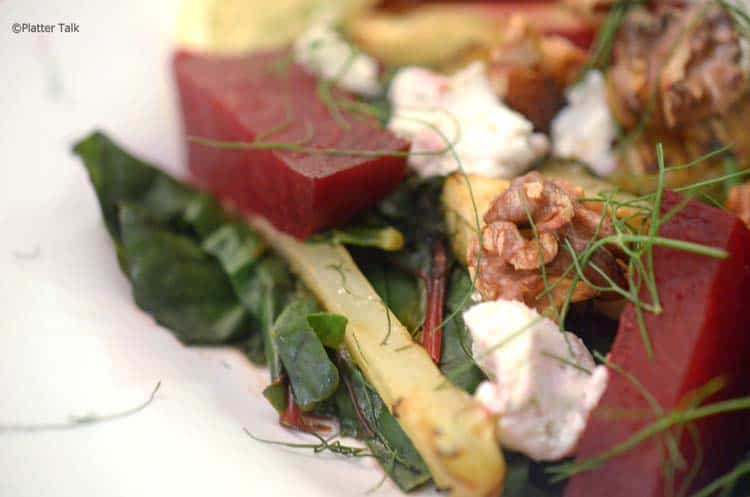 Chard and fennel salad