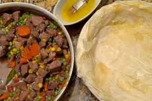 Prime Rib Phyllo Pot Pie Recipe from Platter Talk