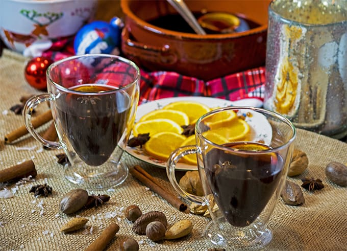 Mulled red wine is perfect for the holidays.