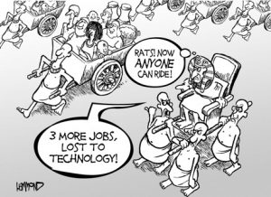 Jobs lost to technology