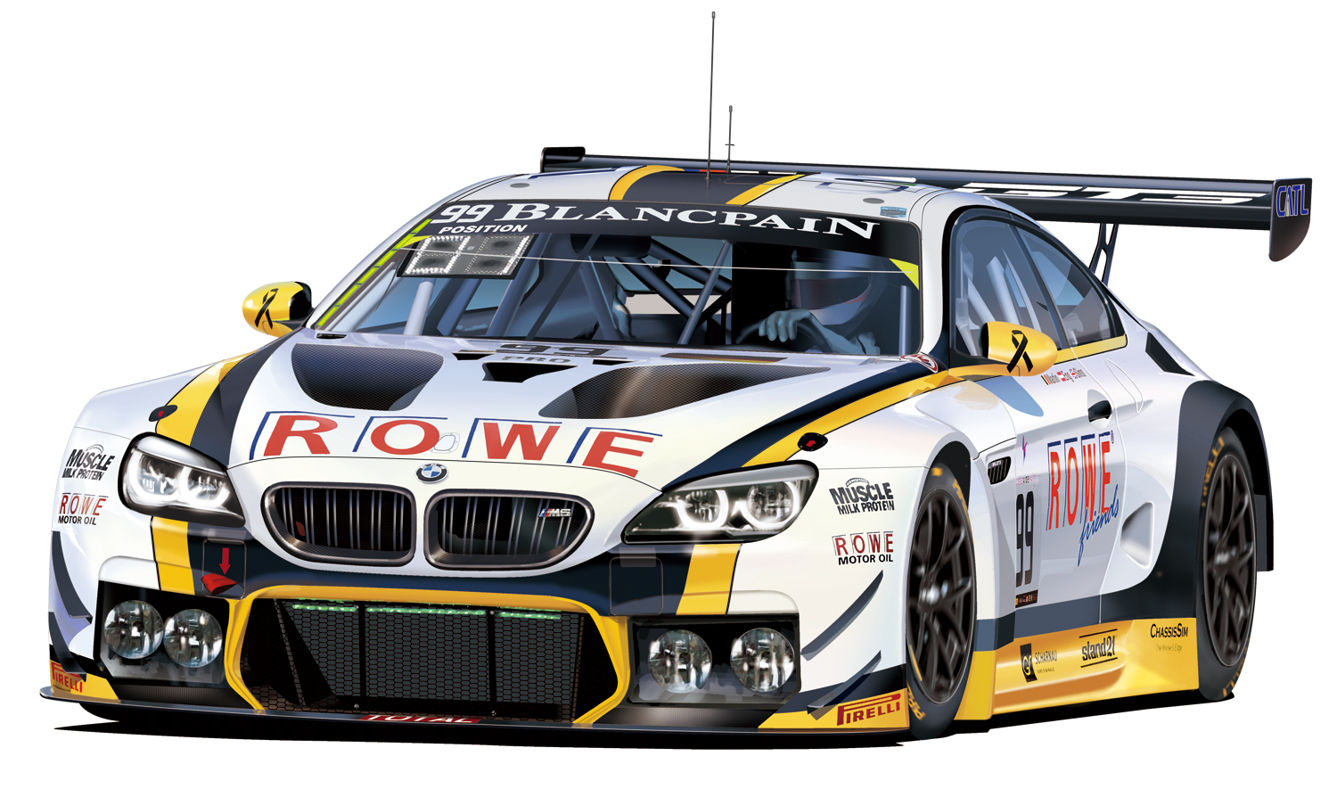 bmw m6 gt3 2016 total 24 hours of spa winner detailing up parts for winer pre order toyland. Black Bedroom Furniture Sets. Home Design Ideas