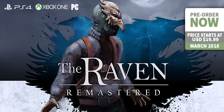play-asia.com, The Raven Remastered, The Raven Remastered PC, The Raven Remastered PlayStation 4, The Raven Remastered Xbox One, The Raven Remastered US, The Raven Remastered release date, The Raven Remastered price, The Raven Remastered gameplay, The Raven Remastered features
