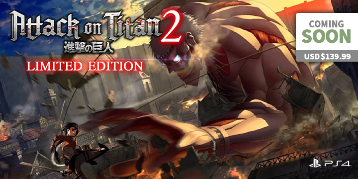 Play-Asia.com, Attack on Titan 2, Attack on Titan 2 US, Attack on Titan 2 Japan, Attack on Titan 2 Europe, Attack on Titan 2 Asia, Attack on Titan 2 Playstation 4, Attack on Titan 2 Xbox One, Attack on Titan 2 PlayStation Vita, Attack on Titan 2 Nintendo Switch, Attack on Titan 2 gameplay, Attack on Titan 2 features, Attack on Titan 2 price, Attack on Titan 2 release date