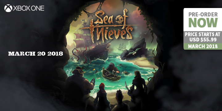 play-asia.com, Sea of thieves, Sea of thieves Xbox One, Sea of thieves EU, Sea of thieves US, Sea of thieves Asia, Sea of thieves release date, Sea of thieves price, Sea of thieves gameplay, Sea of thieves features