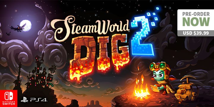 Play-Asia.com, SteamWorld Dig 2, SteamWorld Dig 2 US, SteamWorld Dig 2 Europe, SteamWorld Dig 2 PlayStation 4, SteamWorld Dig 2 Nintendo Switch, SteamWorld Dig 2 features, SteamWorld Dig 2 gameplay, SteamWorld Dig 2 release date, SteamWorld Dig 2 price