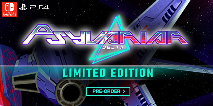 Psyvariar Delta, Psyvariar Delta (Multi-Language), PlayStation 4, Nintendo Switch, release date, price, gameplay, features, Asia, Psyvariar Delta Limited Edition, game