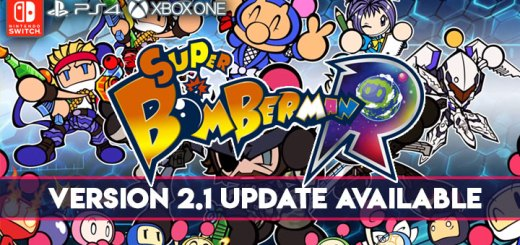 Super Bomberman R, XONE, PS4, Switch, Japan, US, Europe, Asia, Australia, update, Version 2.1, gameplay, features, trailer, screenshots