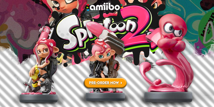 Splatoon 2, amiibo, Switch, Wii U, 3DS, Nintendo, amiibo Splatoon 2 Series Figure, Octoling Girl, Octoling Boy, Octoling Octopus, release date, price, features, screenshots