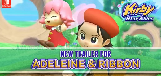 Kirby Star Allies, Switch, US, Europe, Australia, Japan, gameplay, features, game updates, DLC, trailer, Adeleine & Ribbon