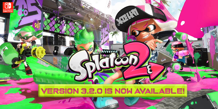 Splatoon 2, Nintendo, Switch, US, Europe, Japan, updates, version 3.2.0
