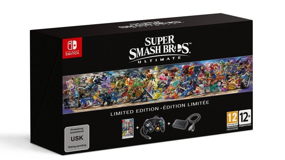 smash bros ultimate limited edition, europe