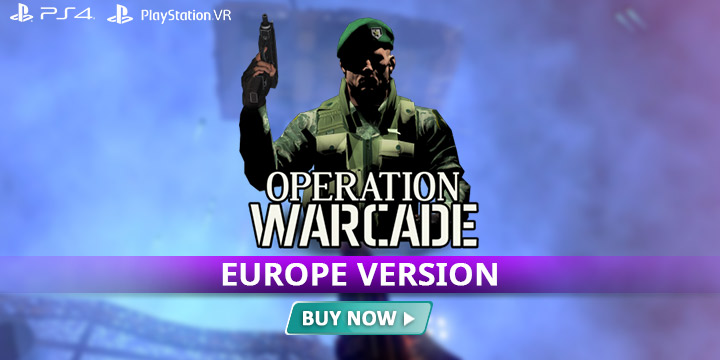 Operation Warcade, PS4, PSVR, US, gameplay, features, release date, price, trailer, screenshots