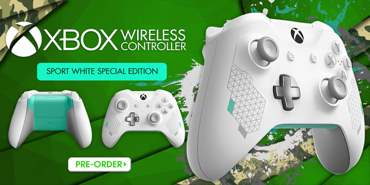 Xbox Wireless Controllers, Xbox Wireless Controller Sport White Special Edition, Xbox Wireless Controller Armed Forces II Special Edition Camouflage, Xbox, Xbox One, Xbox One S, Xbox One X, release date, price, features, Asia