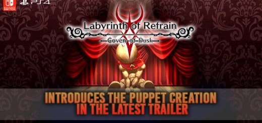 Labyrinth of Refrain: Coven of Dusk, PS4, Switch, US, Europe, Australia, gameplay, features, release date, price, trailer, screenshots, Puppet Creation trailer, update