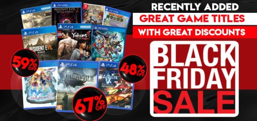 Black Friday Sale, discount, sale, Playasia, PlayStation 4, PlayStation Vita, Nintendo Switch