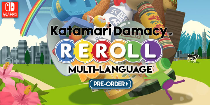Katamari Damacy REROLL (Multi-Language), Katamari Damacy REROLL, Katamari Damacy Encore, Nintendo Switch, US, North America, Japan, Asia, release date, price, gameplay, features, Bandai Namco Games