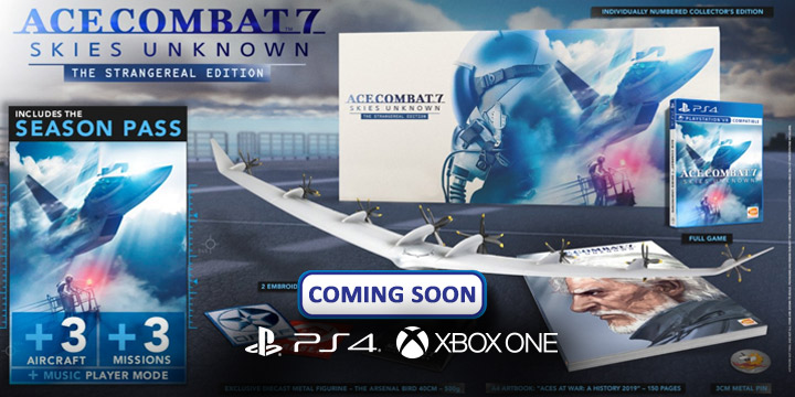 Ace Combat 7: Skies Unknown, Bandai Namco, PlayStation 4, PlayStation VR, Xbox One, PS4, PSVR, XONE, US, Europe, Australia, Japan, Asia, gameplay, features, release date, price, trailer, screenshots