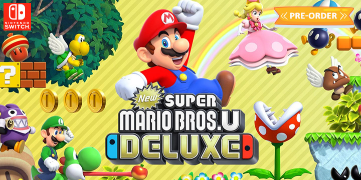 New Super Mario Bros. U Deluxe, Nintendo Switch, Switch, US, Europe, Australia, Japan, gameplay, features, release date, price, trailer, screenshots, Nintendo