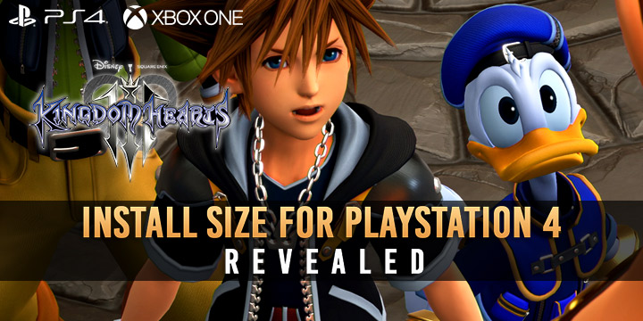 Kingdom Hearts III: The Install Size for PS4 Revealed!