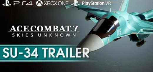 Ace Combat 7: Skies Unknown, Bandai Namco, PlayStation 4, PlayStation VR, Xbox One, PS4, PSVR, XONE, US, Europe, Australia, Japan, Asia, gameplay, features, release date, price, trailer, screenshots, update, Su-34