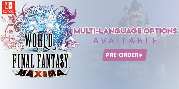 Final Fantasy, World of Final Fantasy Maxima, Multi-language, Nintendo Switch, Switch, Asia, gameplay, features, release date, price, trailer, screenshots, Square Enix