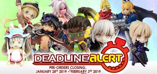DEADLINE ALERT! All The Toy Pre-Orders Closing Jan 28st – Feb 3rd!