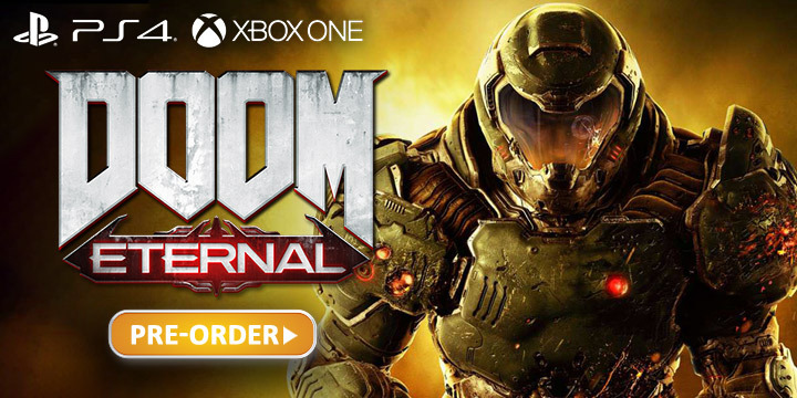 DOOM Eternal, Bethesda, PlayStation 4, PS4, Xbox One, XONE, US, North America, Europe, PAL, release date, features, gameplay, price, pre-order