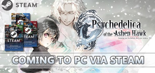 Psychedelica of the Ashen Hawk, Steam, PS Vita, PlayStation Vita, Europe, updates, Haitaka no Psychedelica, 灰鷹のサイケデリカ