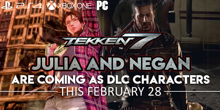 Tekken, Tekken 7, Bandai Namco, Bandai Namco Entertainmetn, PS4, PlayStation 4, Xbox One, XONE, PC, Windows, US, Europe, Japan, Asia, EVO Japan 2019, EVO, EVO Japan, DLC, Julia, Negan, The Walking Dead