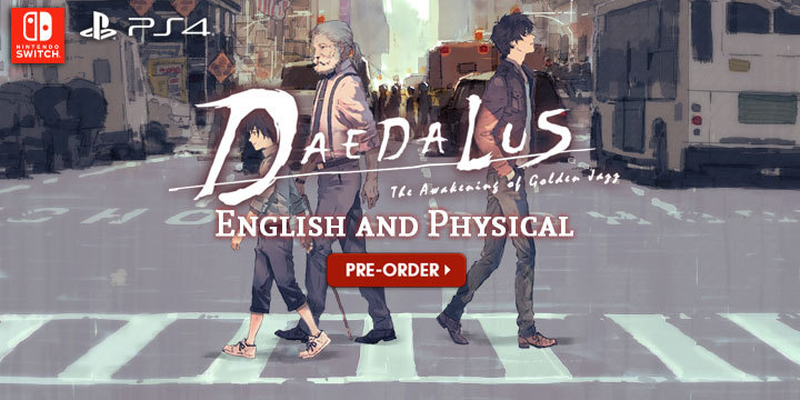 Daedalus: The Awakening of Golden Jazz, English, Asia, H2 Interactive, pre-order, price, release date, multi-language, news, update, PS4, PlayStation 4, Nintendo Switch, Switch, Limited Edition