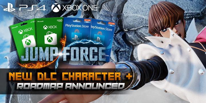 Jump Force, PlayStation 4, Xbox One, release date, gameplay, price, features, US, North America, Europe, update, news, DLC, Seto Kaiba, new screenshots, roadmap