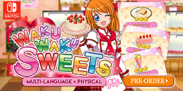 Waku Waku Sweets, release date, Nintendo Switch, Switch, Multi-Language, price, gameplay, features, pre-order, Asia, Southeast Asia