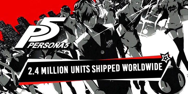 Persona, Persona 5, Atlus, PS4, PS4, PlayStation 4, PlayStation 3, Europe, Japan, US, update, sales