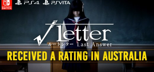 Root Letter: Last Answer, Root Letter, PS4, Switch, PlayStation 4, Nintendo Switch, √Letter ルートレター Last Answer, update, Japan, PS Vita, rating, Australia Classification Board