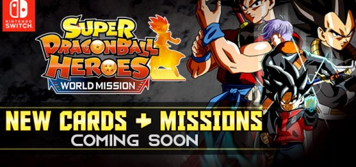 Super Dragon Ball Heroes: World Mission, Bandai Namco, Nintendo Switch, Switch, US, North America, Europe, Asia, Japan, West, news, update, new mission, new cards
