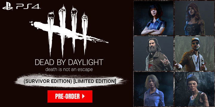 Dead by Daylight, 3goo, pre-order, release date, features, trailer, price, PlayStation 4, PS4, Japan, Limited Edition, Survivor Edition, Survivor Edition Limited Edition