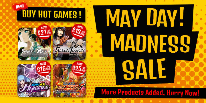 May Day! Madness Sale – More Products Added With Great Discounts!