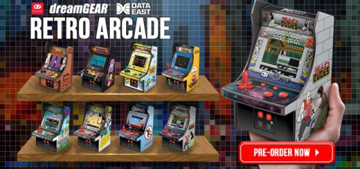 Retro Arcade, my arcade, myarcade, mini machines, retro mini arcade machines, retro mini arcade, cabinets, mini cabinets, dreamGEAR, burger time, elevator action, rolling thunder, bubble bobble, caveman ninja, heavy barrel, karate champ, bad dudes, Japan, pre-order, release date, features