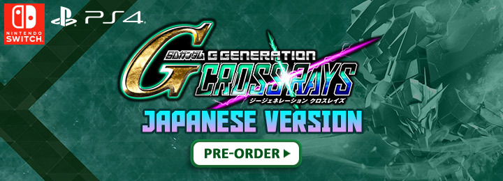 Gundam, SD Gundam G Generation Cross Rays, Bandai Namco, PS4, Switch, Nintendo Switch, PlayStation 4, Asia, SD 鋼彈 G 世代 火線縱橫