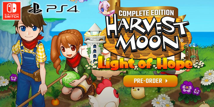 Harvest Moon, Harvest Moon: Light of Hope, Harvest Moon: Light of Hope [Complete Edition], Complete Edition, PS4, Nintendo Switch, Switch, PlayStation 4, US, Natsume, Pre-order