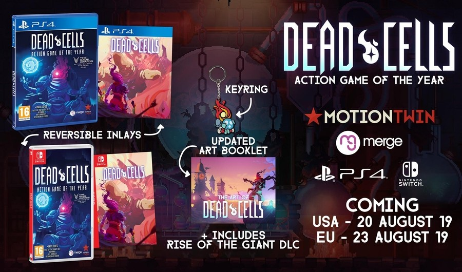 Dead Cells [Action Game of the Year], Dead Cells: Action Game of the Year, Dead Cells, PS4, Switch, PlayStation 4, Nintendo Switch, US, Europe, Merge Games
