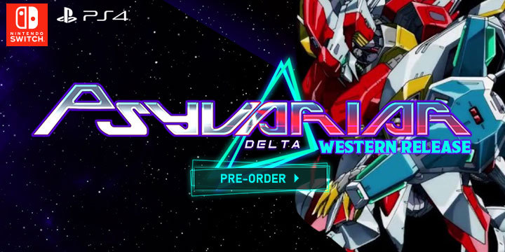 Psyvariar Delta, Western Release, localization, Success, PS4, Switch, PlayStation 4, Nintendo Switch, US, Pre-order